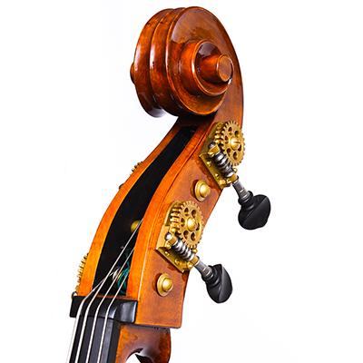 Cosimo Fischetti Double Bass, Scroll Close Up
