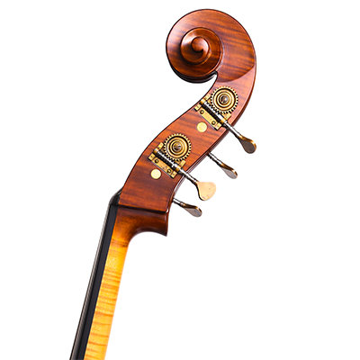 Guido Mariotto Double Bass 2018, Scroll